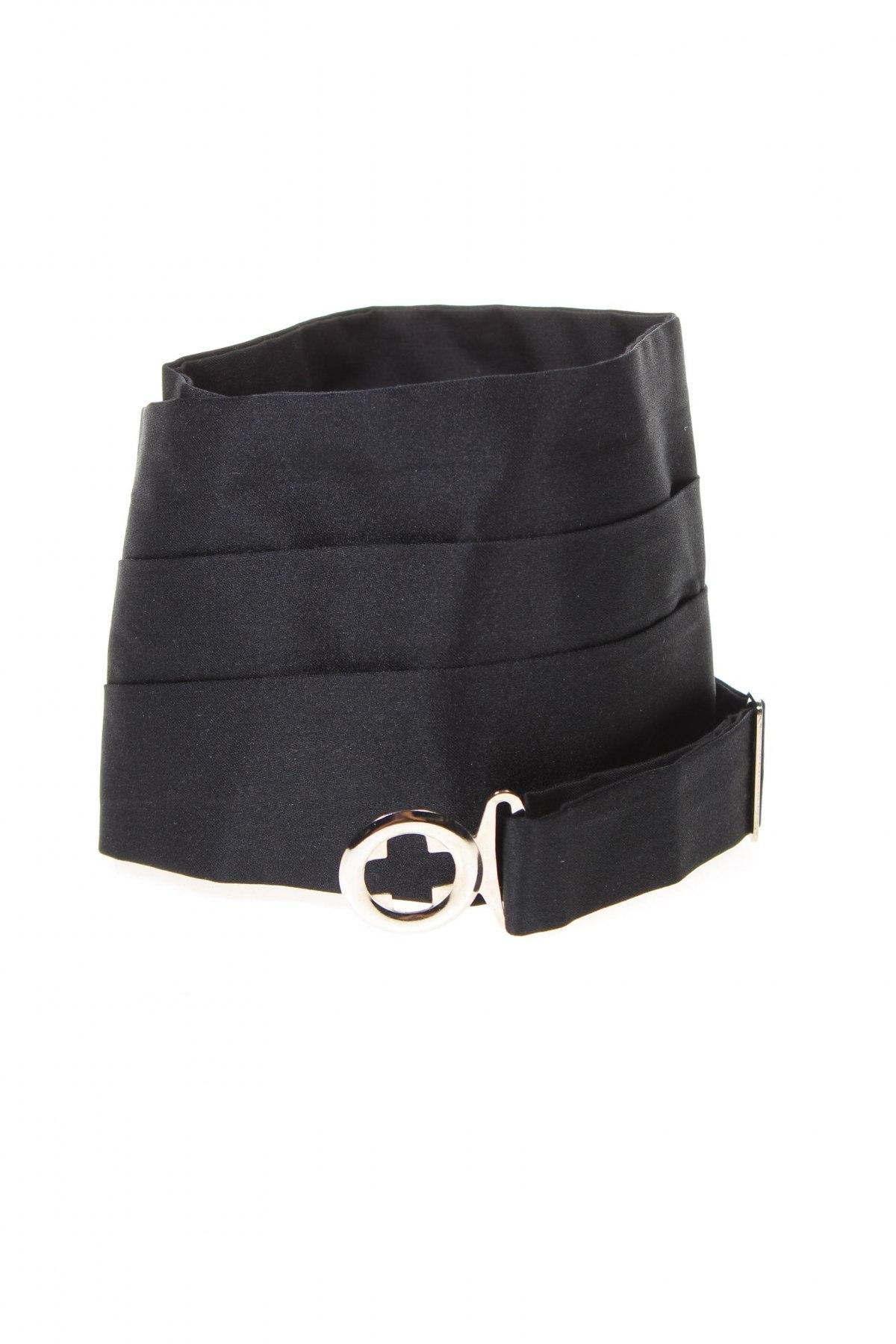 Ζώνη Massimo Dutti, Χρώμα Μαύρο, Μετάξι, Τιμή 46,01€