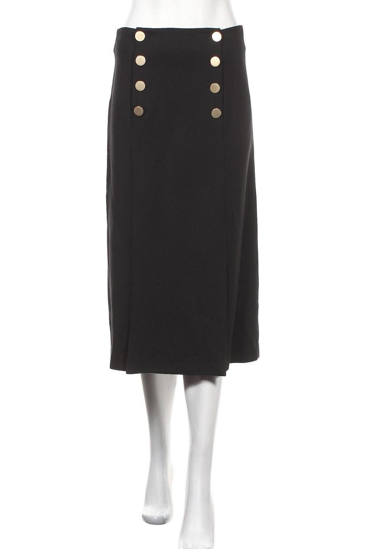 Пола Massimo Dutti, Размер S, Цвят Черен, 99% вискоза, 1% еластан, Цена 40,31лв.