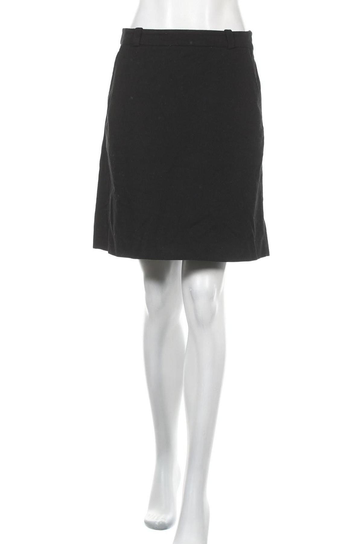 Пола Massimo Dutti, Размер M, Цвят Черен, 98% памук, 2% еластан, Цена 25,76лв.