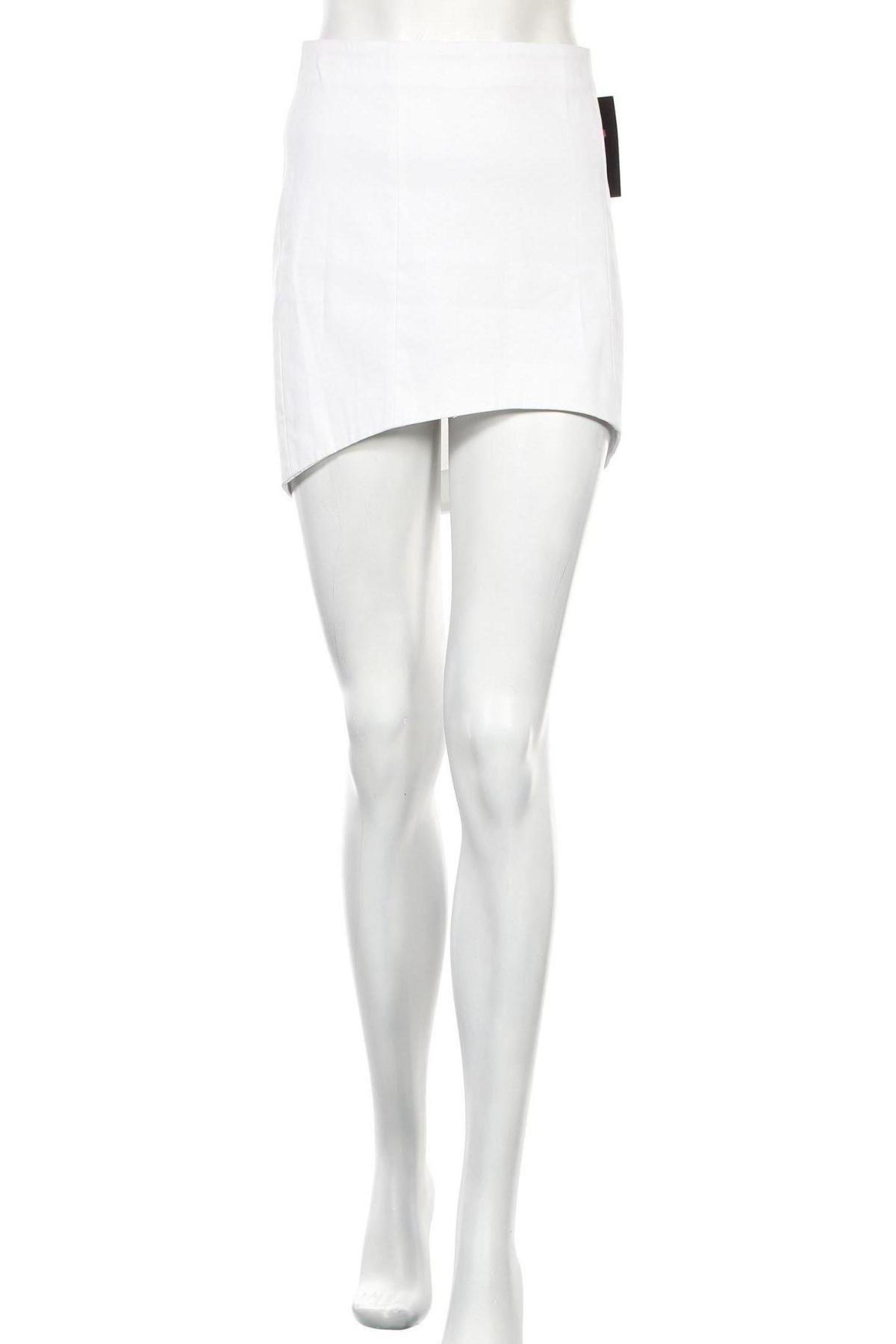Пола Zara Trafaluc, Размер L, Цвят Бял, 97% памук, 3% еластан, Цена 5,60лв.