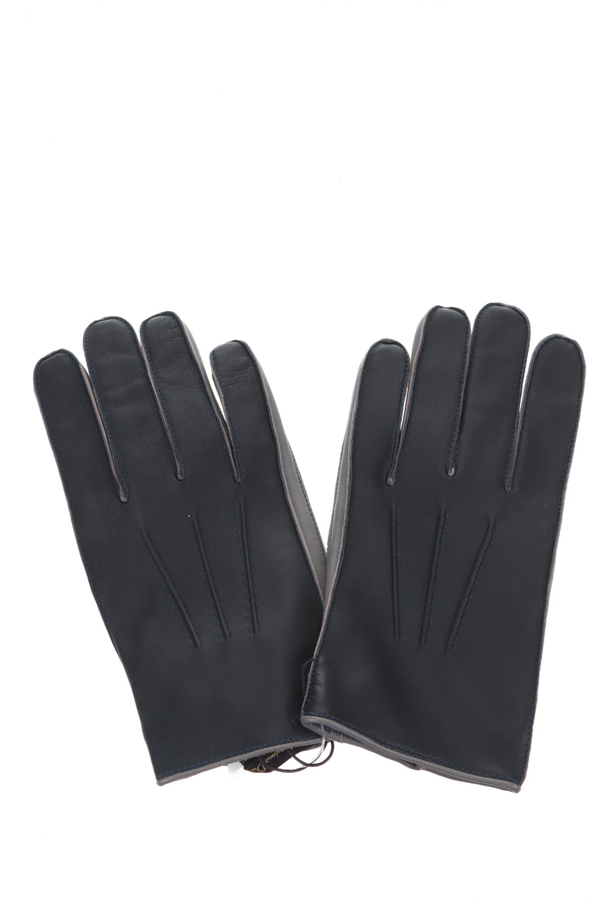 Γάντια Massimo Dutti, Χρώμα Μπλέ, Γνήσιο δέρμα, Τιμή 37,11€