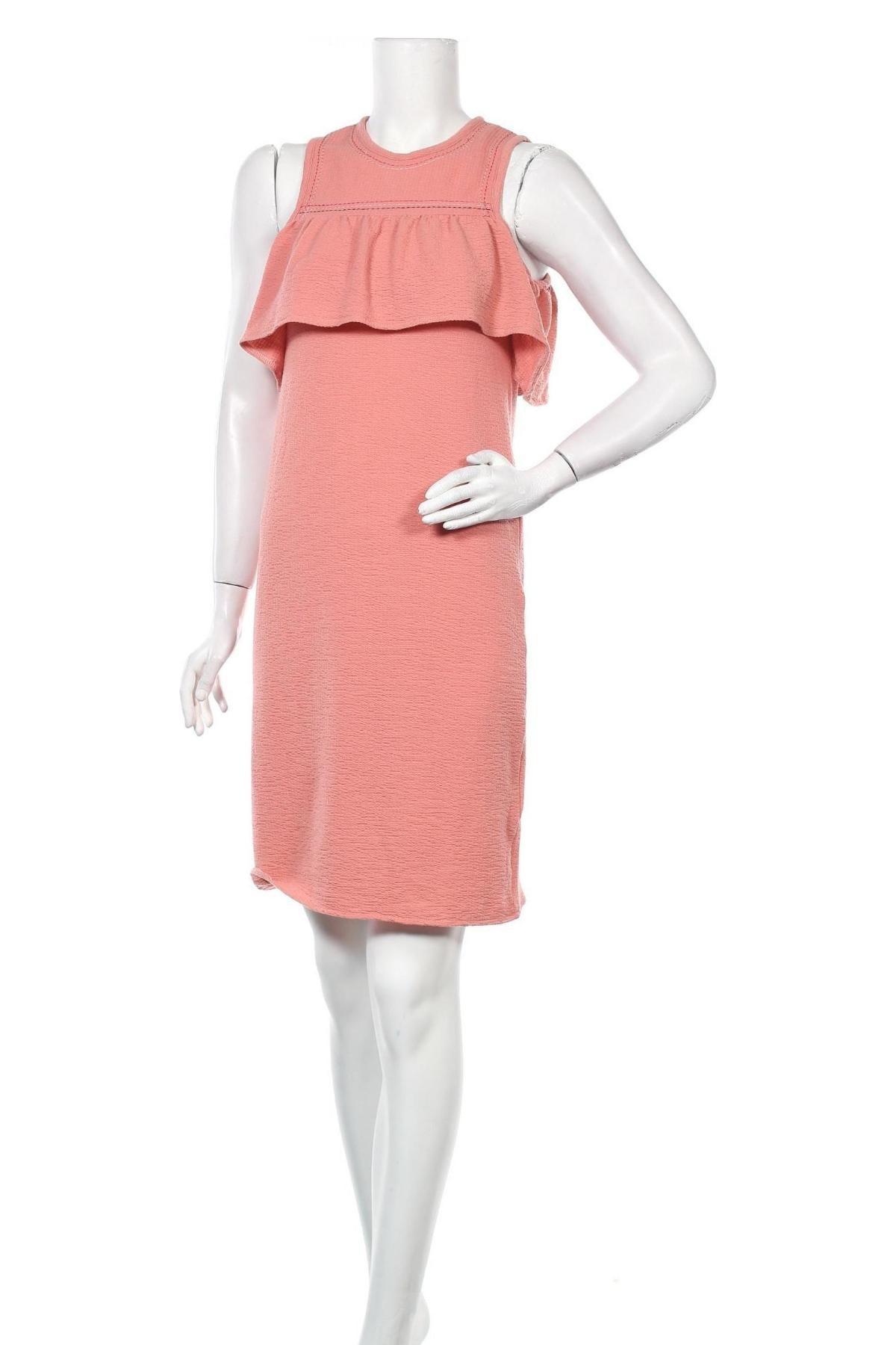 Рокля Teddy Smith, Размер S, Цвят Розов, 100% полиестер, Цена 51,75лв.