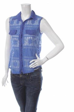 Γυναικείο πουκάμισο, Μέγεθος S, Χρώμα Μπλέ, 97% πολυεστέρας, 3% ελαστάνη, Τιμή 9,28€