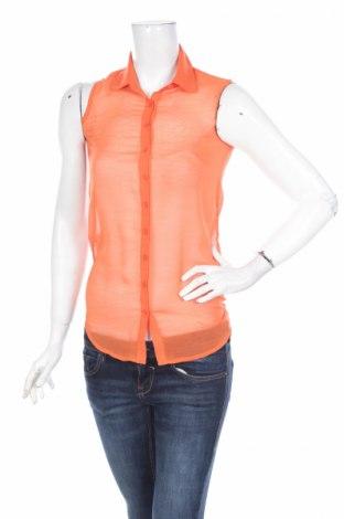 Γυναικείο πουκάμισο Grunt, Μέγεθος S, Χρώμα Πορτοκαλί, Πολυεστέρας, Τιμή 2,86€