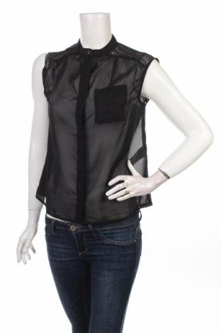 Γυναικείο πουκάμισο Only, Μέγεθος XS, Χρώμα Μαύρο, 100% πολυεστέρας, Τιμή 10,52€