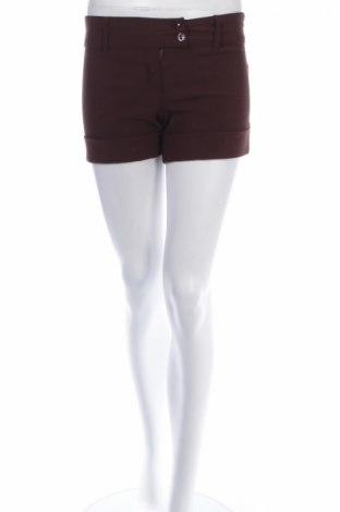 Γυναικείο κοντό παντελόνι Jen In Town, Μέγεθος XS, Χρώμα Καφέ, 94% πολυεστέρας, 4% ελαστάνη, 2% βισκόζη, Τιμή 4,76€