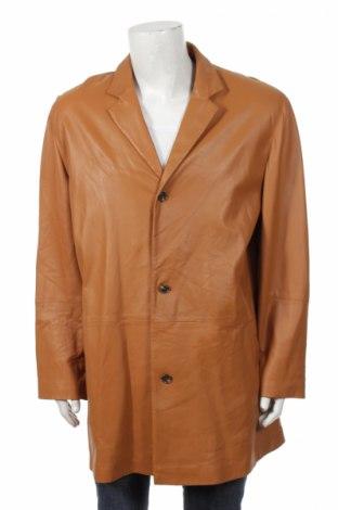 Męski płaszcz skórzany