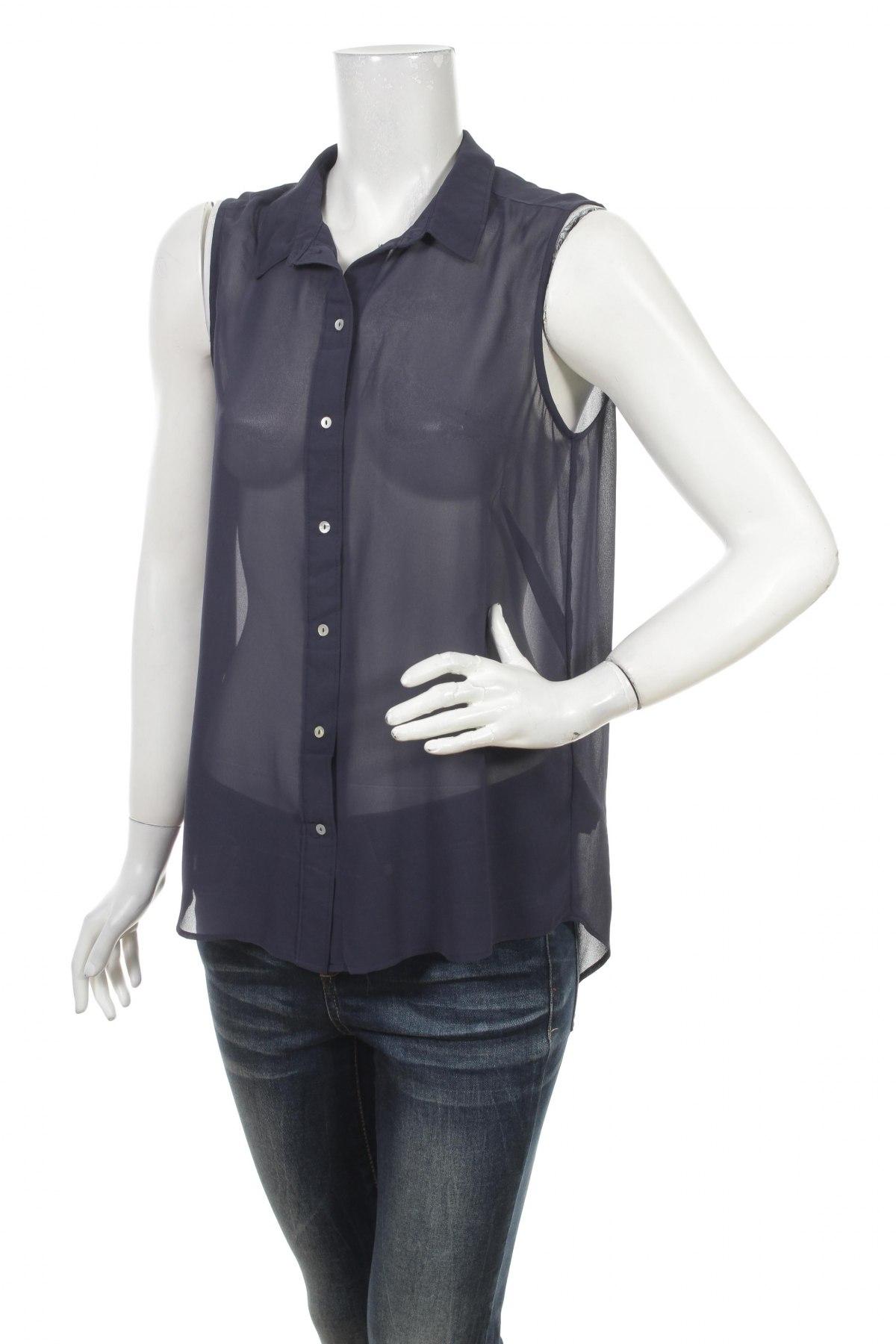 Γυναικείο πουκάμισο H&M, Μέγεθος M, Χρώμα Μπλέ, 100% πολυεστέρας, Τιμή 9,90€