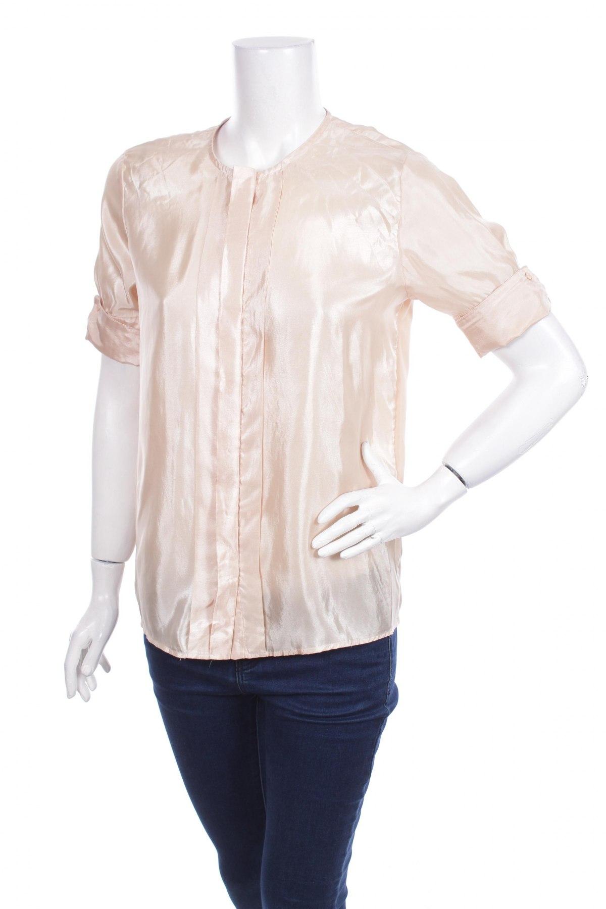 Γυναικείο πουκάμισο H&M, Μέγεθος XS, Χρώμα  Μπέζ, Πολυεστέρας, Τιμή 13,92€