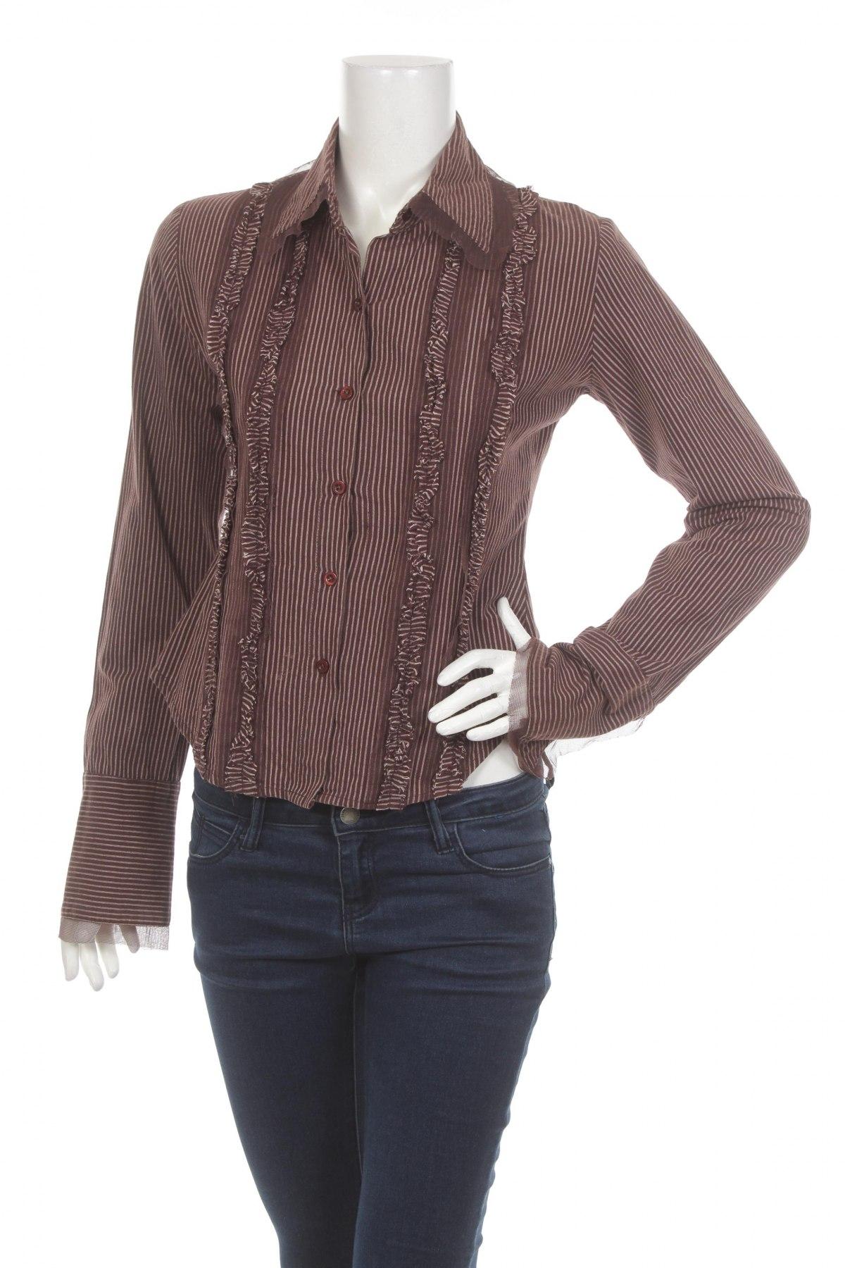 Γυναικείο πουκάμισο Stradivarius, Μέγεθος S, Χρώμα Καφέ, Τιμή 19,59€