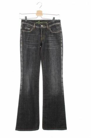 Дамски дънки Bebe, Размер XS, Цвят Сив, 98% памук, 2% еластан, Цена 16,64лв.