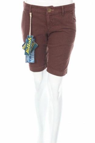 Γυναικείο κοντό παντελόνι Killah, Μέγεθος S, Χρώμα Καφέ, Βαμβάκι, Τιμή 17,34€