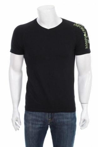 Tricou de bărbați Emporio Armani, Mărime S, Culoare Negru, 95% bumbac, 5% elastan, Preț 100,80 Lei