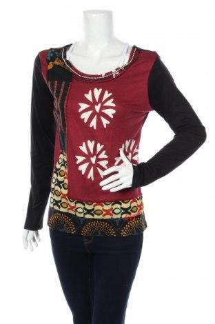 Γυναικεία μπλούζα Desigual, Μέγεθος L, Χρώμα Πολύχρωμο, 55% βαμβάκι, 45% βισκόζη, Τιμή 14,25€