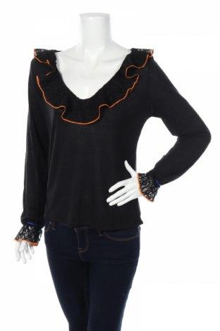 Bluză de femei Desigual, Mărime M, Culoare Negru, 77% modal, 23% poliamidă, Preț 70,26 Lei