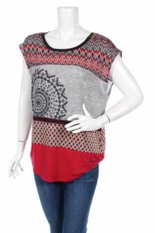 Bluză de femei Desigual, Mărime M, Culoare Multicolor, 57% poliester, 36% viscoză, 5% bumbac, 2% elastan, Preț 42,16 Lei