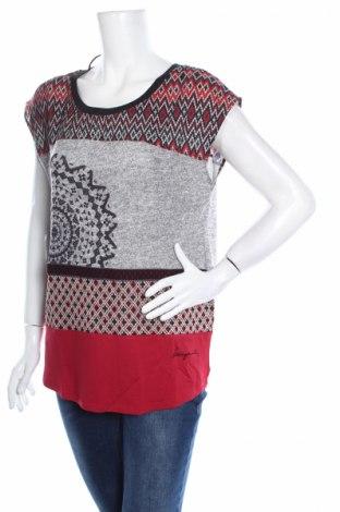 Дамска блуза Desigual, Размер S, Цвят Многоцветен, 57% полиестер, 36% вискоза, 5% памук, 2% еластан, Цена 16,02лв.