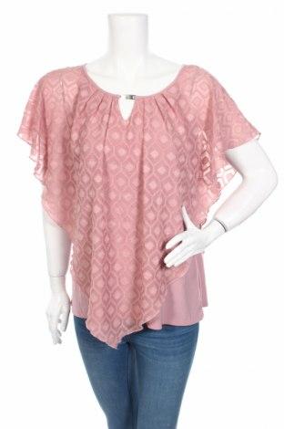 Bluzka damska Notations, Rozmiar XL, Kolor Różowy, Poliester, elastyna, Cena 39,28zł
