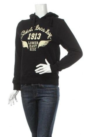 Dámska mikina  Schott, Veľkosť S, Farba Čierna, Bavlna, Cena  16,62€