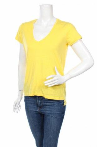 Дамска тениска Zara, Размер M, Цвят Жълт, Памук, Цена 7,50лв.