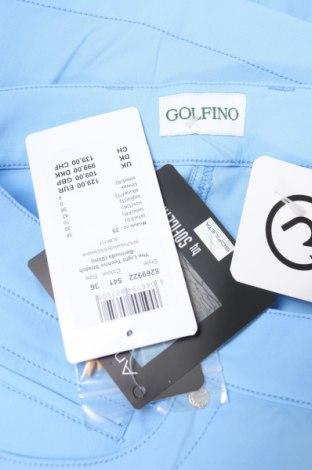 Дамски къс панталон Golfino, Размер S, Цвят Син, 94% полиамид, 6% еластан, Цена 22,80лв.
