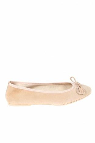 Дамски обувки Devernois, Размер 37, Цвят Бежов, Естествен велур, Цена 44,70лв.