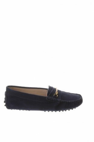 Дамски обувки John Scott, Размер 37, Цвят Син, Естествен велур, Цена 53,55лв.