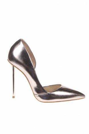 Дамски обувки San Marina, Размер 37, Цвят Сребрист, Естествена кожа, Цена 70,56лв.