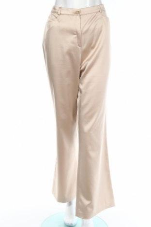 Дамски панталон Hucke, Размер XL, Цвят Бежов, 95% полиестер, 5% еластан, Цена 8,32лв.
