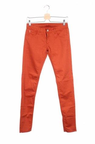 Дамски панталон Le Temps Des Cerises, Размер XS, Цвят Оранжев, 97% памук, 3% еластан, Цена 22,87лв.