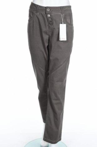 Pantaloni de femei S.Oliver, Mărime XXL, Culoare Gri, 98% bumbac, 2% elastan, Preț 70,26 Lei