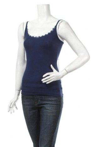 Γυναικείο αμάνικο μπλουζάκι Naf Naf, Μέγεθος XS, Χρώμα Μπλέ, 47% βαμβάκι, 47% μοντάλ, 6% ελαστάνη, Τιμή 11,13€