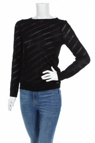 Дамски пуловер Guess, Размер S, Цвят Черен, 89% вискоза, 11% полиамид, Цена 104,64лв.