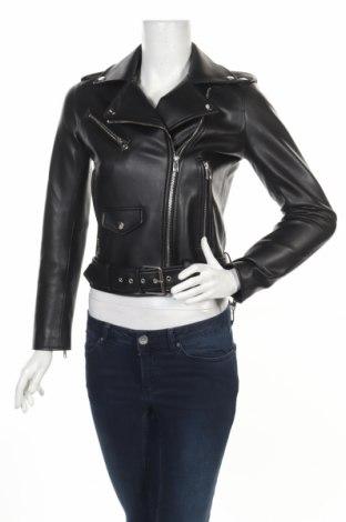 Γυναικείο δερμάτινο μπουφάν Zara, Μέγεθος XS, Χρώμα Μαύρο, Δερματίνη, Τιμή 31,09€