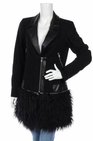 Γυναικείο παλτό Huit Six Sept by Women dept, Μέγεθος M, Χρώμα Μαύρο, 60% μαλλί, 40% πολυεστέρας, Τιμή 76,80€