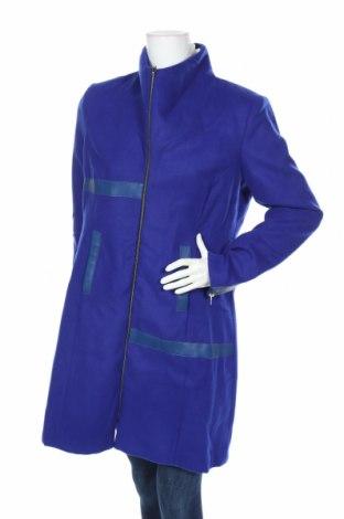 Γυναικείο παλτό Multiples, Μέγεθος L, Χρώμα Μπλέ, 80% πολυεστέρας, 20% βισκόζη, δερματίνη, Τιμή 27,53€