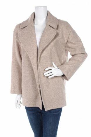 Дамско палто Zara, Размер S, Цвят Бежов, Полиестер, Цена 56,84лв.