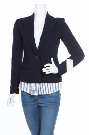 Dámské sako  Zara, Rozměr XS, Barva Modrá, 72% polyester, 22% viskóza, 6% elastan, Cena  392,00Kč