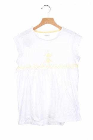 Детска блуза Vertbaudet, Размер 10-11y/ 146-152 см, Цвят Бял, Памук, Цена 11,40лв.