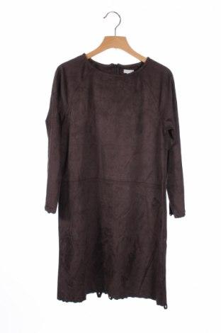 Dětské šaty  Gocco, Rozměr 11-12y/ 152-158 cm, Barva Hnědá, 90% polyester, 10% polyurethane, Cena  258,00Kč