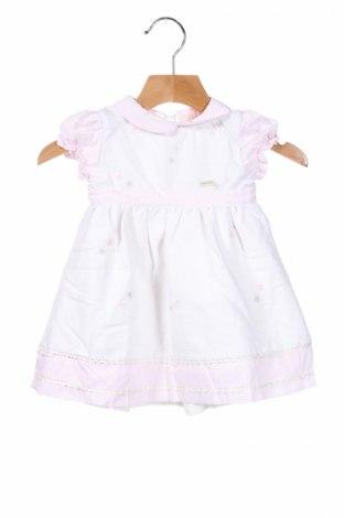 Παιδικό φόρεμα Silvian Heach Kids, Μέγεθος 6-9m/ 68-74 εκ., Χρώμα Λευκό, Βαμβάκι, πολυεστέρας, Τιμή 22,02€