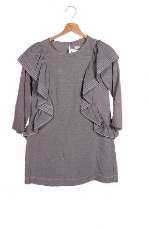 Dziecięca sukienka Zara Kids, Rozmiar 9-10y/ 140-146 cm, Kolor Szary, 79% tencel, 21% len, Cena 30,68zł