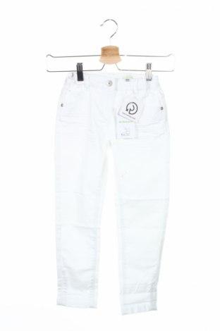 Детски дънки Vertbaudet, Размер 7-8y/ 128-134 см, Цвят Бял, 61% памук, 37% полиестер, 2% еластан, Цена 36,75лв.