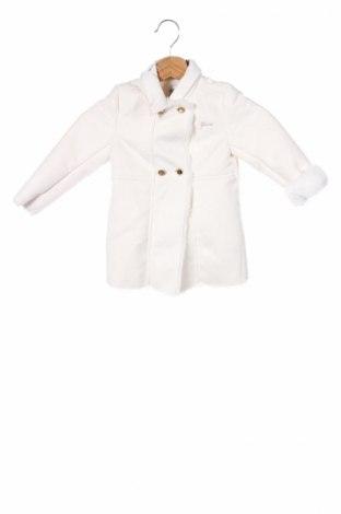 Детско палто Guess, Размер 18-24m/ 86-98 см, Цвят Екрю, Полиестер, Цена 152,64лв.