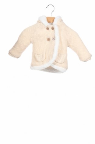 Детско палто Nutmeg, Размер 3-6m/ 62-68 см, Цвят Бежов, 96% акрил, 3% полиестер, 1% метални нишки, Цена 32,00лв.