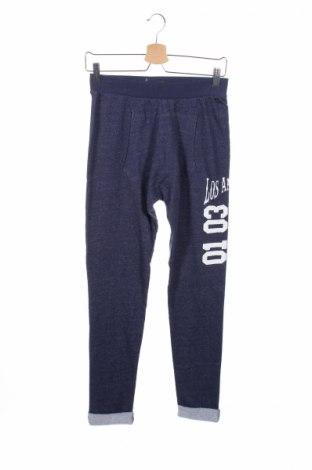 Pantaloni trening de copii Guess, Mărime 14-15y/ 168-170 cm, Culoare Albastru, Bumbac, Preț 77,63 Lei
