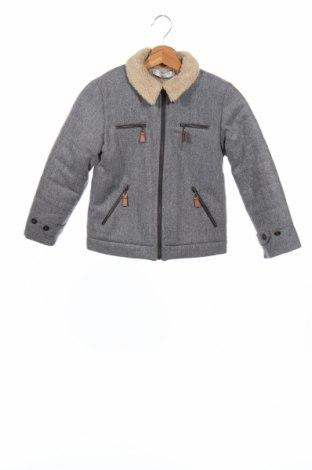 Детско яке La Redoute, Размер 7-8y/ 128-134 см, Цвят Сив, 60% вълна, 35% полиестер, 5% други тъкани, Цена 44,21лв.