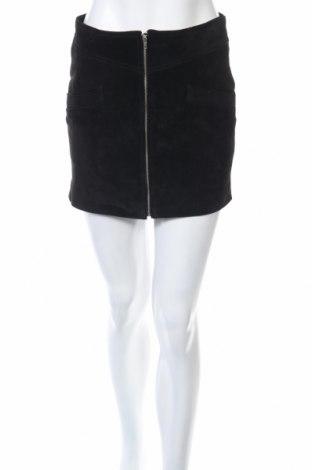 Δερμάτινη φούστα Mango, Μέγεθος XS, Χρώμα Μαύρο, Φυσικό σουέτ, Τιμή 6,97€