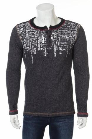 Мъжка блуза Desigual, Размер S, Цвят Сив, 99% памук, 1% еластан, Цена 40,05лв.