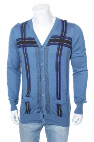 Мъжка жилетка Pull&Bear, Размер XL, Цвят Син, Памук, Цена 14,50лв.